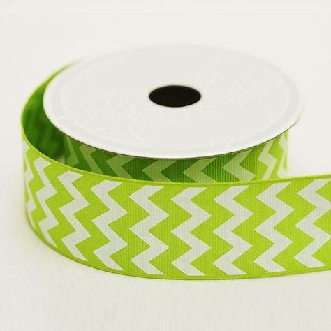 10 Yards 1 5 Apple Green Chevron Grosgrain Ribbon Chevron Ribbon Green Chevron Chevron