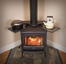 Wood Burning Stove With Extra Cooking Areas Ad Poele A Bois