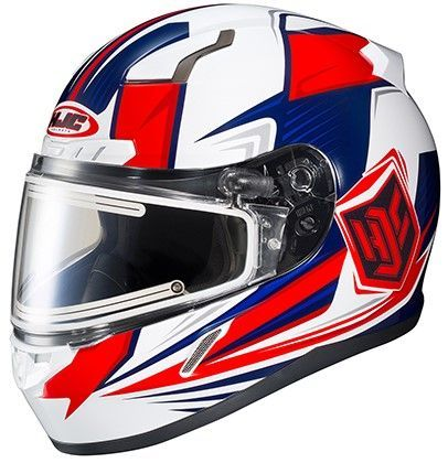 Hjc Adult Striker Cl 17 Mc1h Snow Helmet Red White Blue Xs 3xl