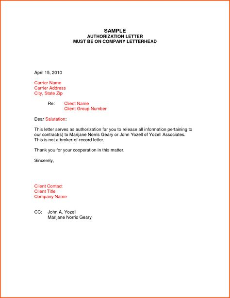 A business appointment letter is written to schedule the - letters of authorization