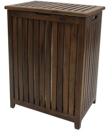 Home Laundry Hamper Teak Teak Wood
