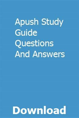 Apush Study Guide Questions And Answers With Images Study