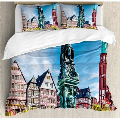 East Urban Home European Old City Of Frankfurt Germany With