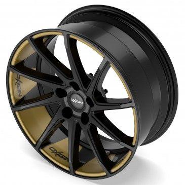 Oxigin 20 Attraction Black Foil Gold Felgenbett Rims For Cars