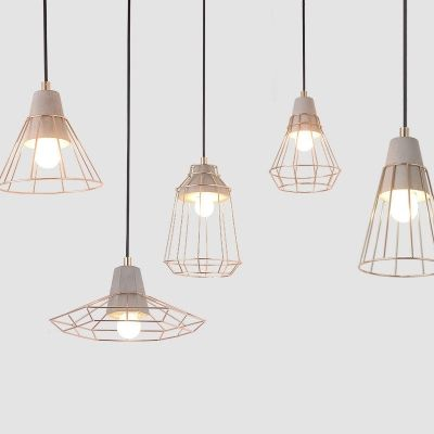 Nordic Style Wire Guard Led Light Ceiling Pendant 5 Designs For Option Ceiling Lights Ceiling Pendant Lights Ceiling Pendant