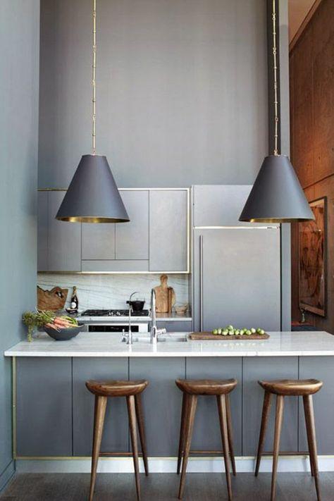 Grau Als Wandfarbe Wie Schon Ist Das Denn Moderne Kuchenideen Kuchendesign Modern Umbau Kleiner Kuche