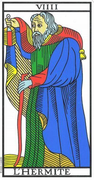 El Ermitaño Tarot De Marsella 9 Tarot Jodorowsky Tarot Marsella Tarot Cartas Marsella