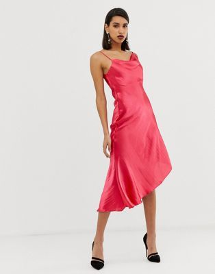 19++ Asos design midi slip dress in high shine satin inspirations