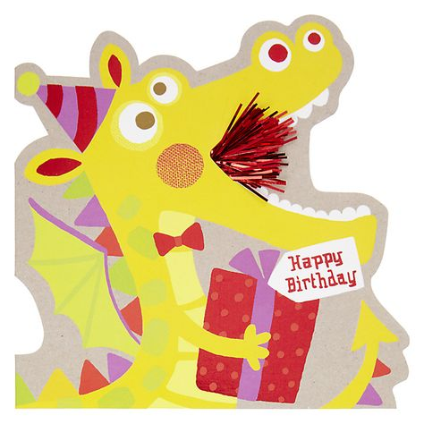 Buy Hotchpotch Dragon Birthday Card Online At Johnlewis