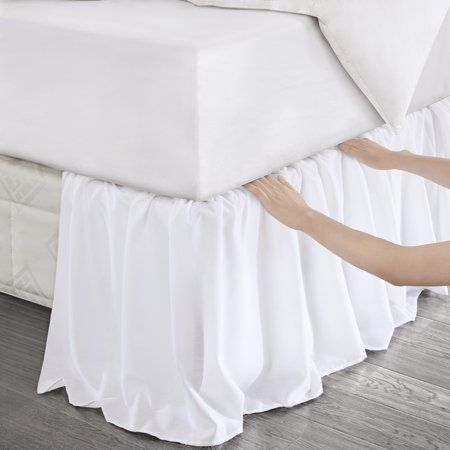 Detachable Box Pleat Bedskirt Bedskirt Luxury Bedding Master Bedroom Box Spring Bed
