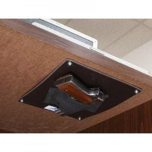 Quick Access Under Desk Gun Holster Attorneys Receive More Threats Than Most People Can Imagine Hidden Gun Storage Hidden Gun Safe Gun Storage