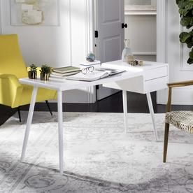 Safavieh Ferli Contemporary Writing Desk Fox2228a Desk With Drawers Home Office Furniture White Desks