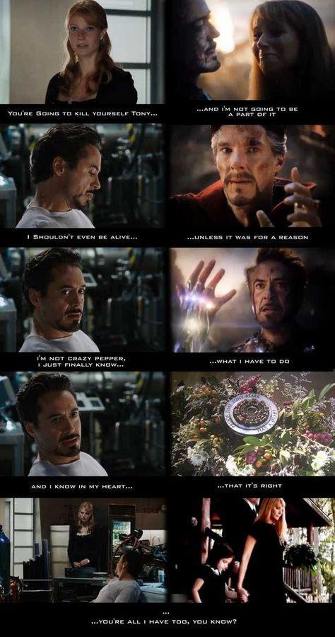 Tony Stark's journey - avengers post