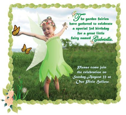 Printable TinkerBell Birthday Invitation Bday Invites Pinterest