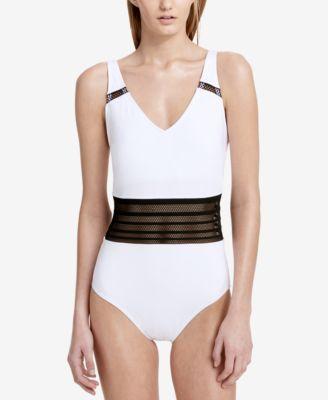 CALVIN KLEIN Calvin Klein Mesh-Inset One-Piece Swimsuit.  calvinklein   cloth   swimwear ad7342934