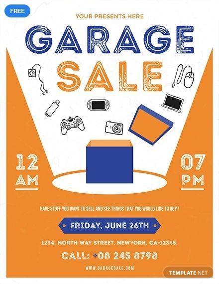 Garage Sale Flyer Template Free Jpg Illustrator Indesign Word Apple Pages Psd Publisher Template Net Sale Flyer Free Flyer Templates Flyer Free
