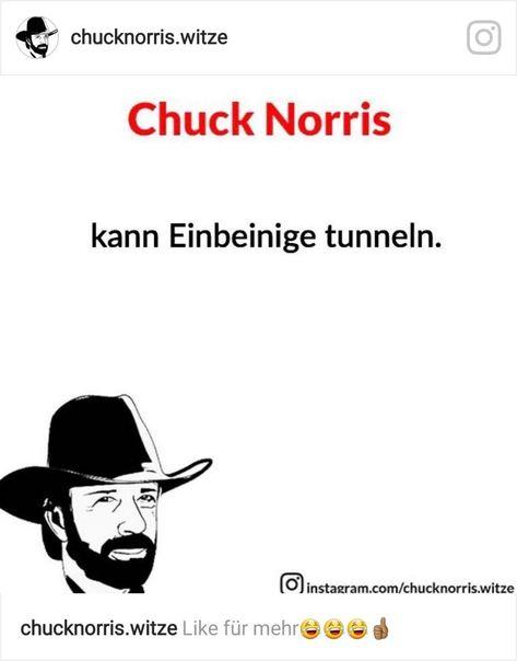Chuck Norris Tunnelt Einbeinigen Lustig Witzig Sprüche Bild