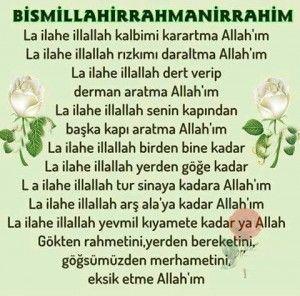 La Ilahe Illallah Kalbimi Karartma Allah Im Dergah Evi Dev Islami Sanal Kitaplik Dualar Allah Ilham Verici Sozler