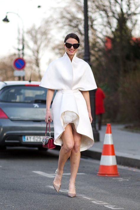Best Paris Fashion Week Street Style Fall 2015 - Street Style from Paris Fashion Week - white