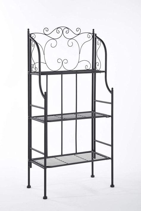Amazon 3 Tier Metal Frame Baker Rack Kitchen Cabinet Bookcase