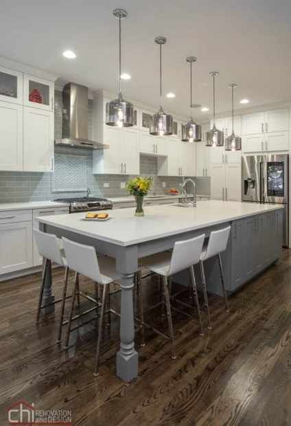 Contemporary Kitchen Cabinet Remodeling In Chicago By Chi Renovation