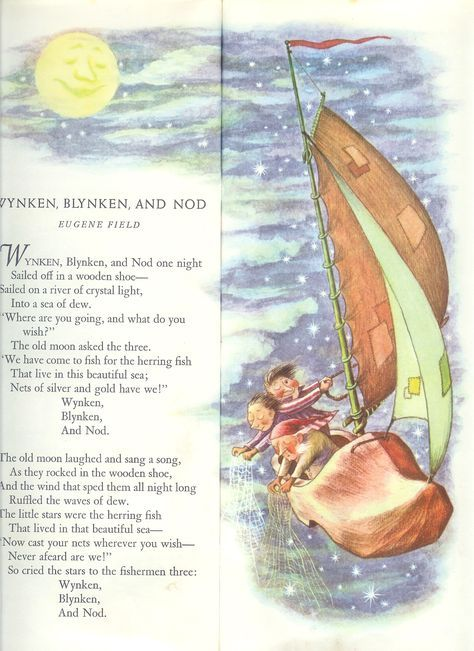 Wynken Blynken And Nod Jpg 1 700 2 338 Pixels Kids Poems Childrens Poems Childrens Poetry