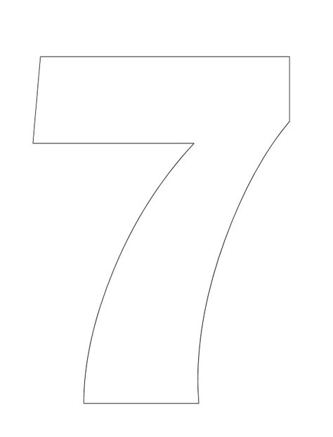Number Pictures to Color: Number 7 Coloring Page (use for Creation book)