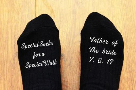 Personalised This is my favourite walk Father of the Bride Socks