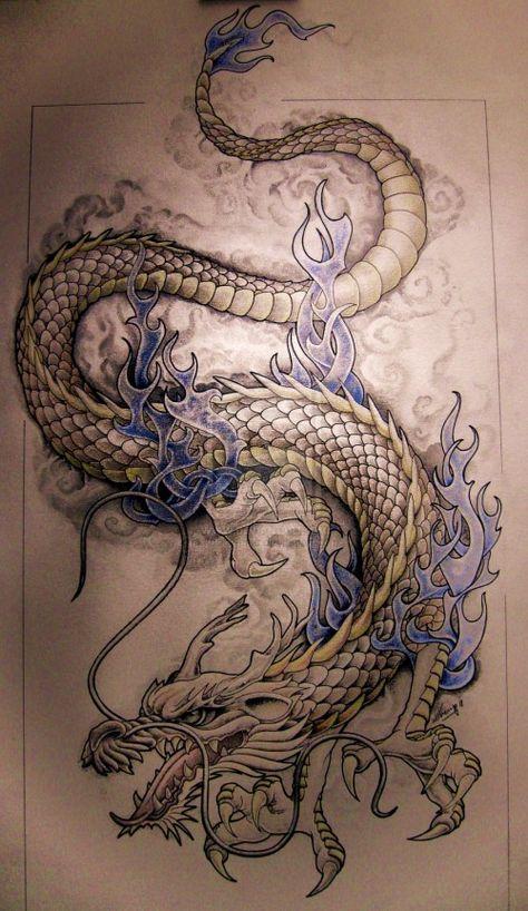 dragon tattoo patterns   Dragon Tattoo Designs