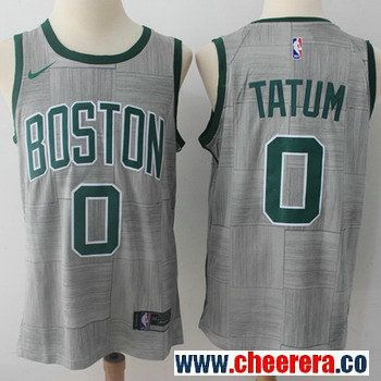 new concept 62035 60b26 Nike Boston Celtics #0 Jayson Tatum Gray NBA Swingman City ...