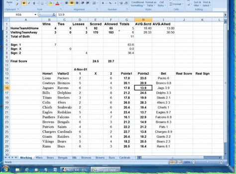 spreadsheet for football betting