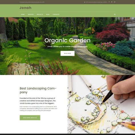 Jonah Landscape Design And Lawn Mowing Wordpress Theme In 2020