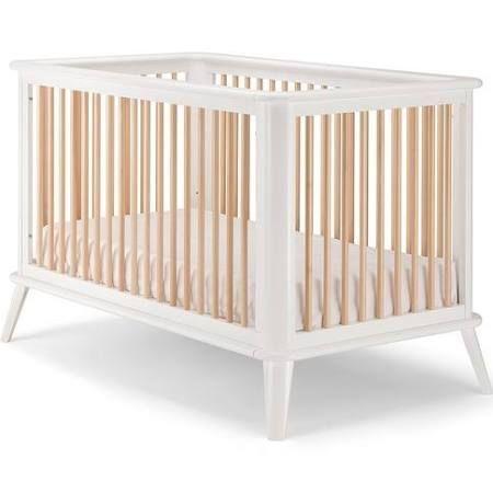 Pali Leone Modern Crib In White Natural Pali Design 21102whn In 2020 Modern Crib Cribs Modern Baby Cribs