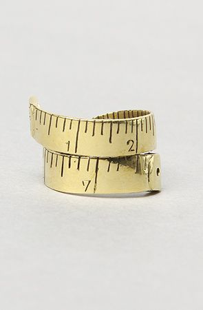 The Ruler Ring in Brass by Monserat De Lucca Jewelry
