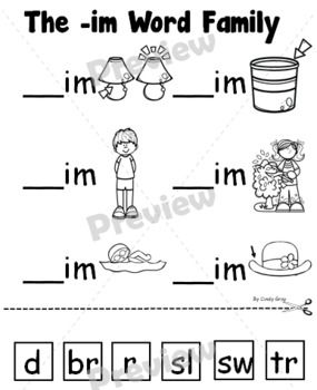 Pin On Word Work In word family worksheets for