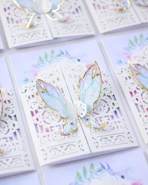Butterfly Invitations, Quince Invitations, Sweet 16 Invitations, Birthday Invitations, Wedding Invitations, Invitation Cards, Invites, Fairy Birthday, 15th Birthday