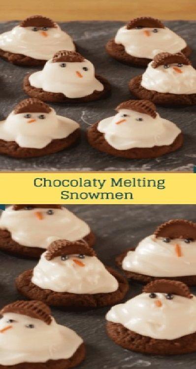 Christmas Desserts Pinterest.Chocolaty Melting Snowmen Food Drink In 2019