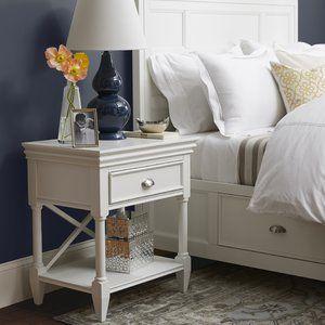 Mclelland 1 Drawer Nightstand White Finish Nightstand Furniture Nightstand Decor Bedroom Furniture