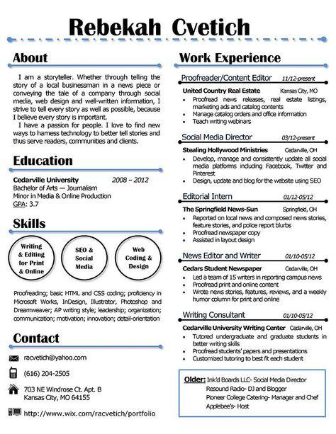 Resume Renovations by Rebekah (resumerenovatio) on Pinterest