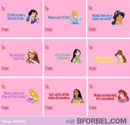 b for bel Dirty Disney Princess Valentine Cards lol – Valentines Cards Words