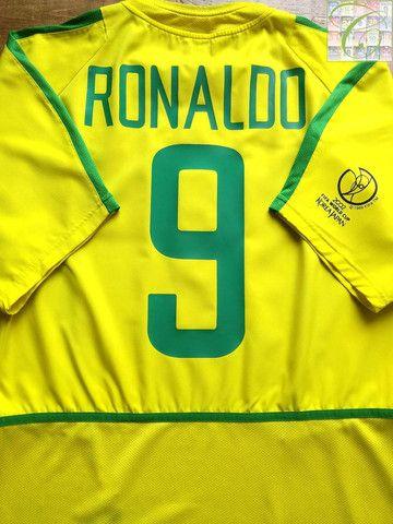 hot sale online bb2af 766d0 2002/03 Brazil Home Football Shirt Ronaldo #9 (L)   sports ...