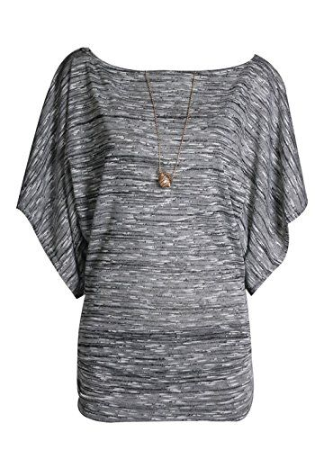 New Womens Plus Size Knitted Necklace Batwing Jumper Top,Vintage Style Slash Neck,Beautiful Soft And Stretchy,Regular Fitted Top Dress,Fastening Batwing Jumper,Perfect For Casual Regular And Evening W...