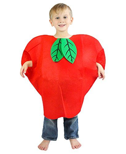 Childrens Apple Fancy Dress Costume Childs Unisex Kids Fruit Outfit by Smiffys