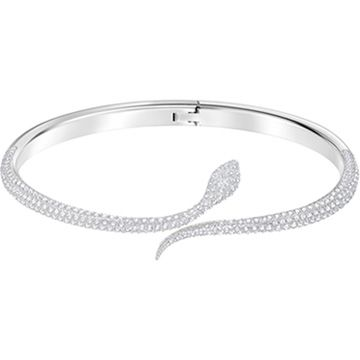 Add sinuous glamour to your wrist with this unique open-shank ...