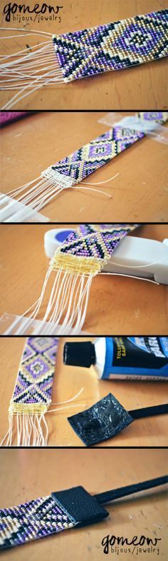Como finalizar braceletes de miçangas