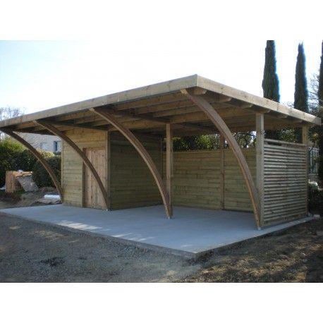 Carport Independant Semi Ferme Carport Bois Abri De Jardin Bois