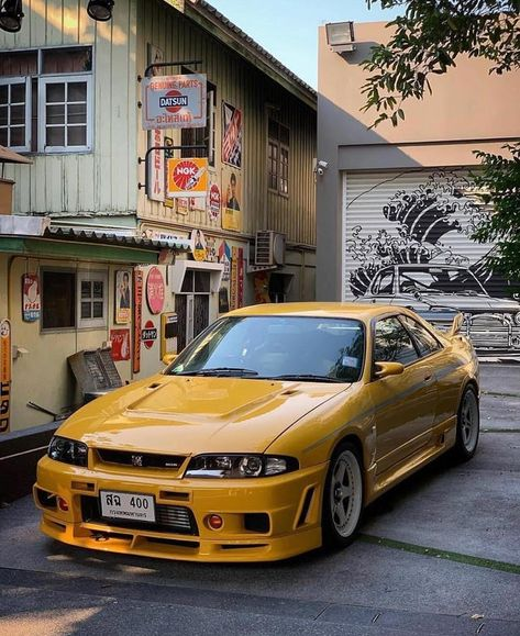 nissan skyline gt-r - Autos Online Nissan R33, R33 Gtr, Nissan Skyline Gt R, Nissan Gtr Skyline, Hot Cars, Street Racing Cars, Japan Cars, Tuner Cars, Modified Cars