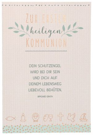 Gluckwunschkarte Zur Ersten Heiligen Kommunion Spruche