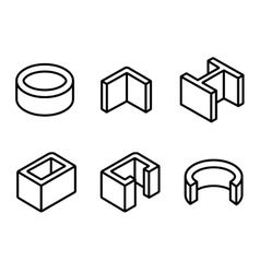 Building And Contruction Materials Icons Set Vector Image En 2020
