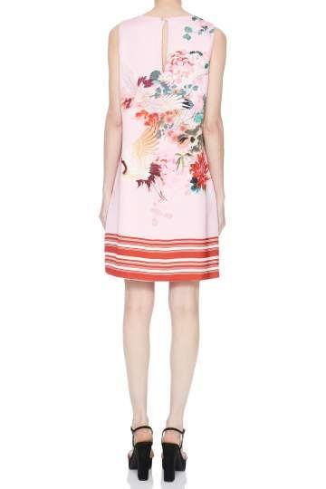 Ruckansicht Von Ana Alcazar A Linen Kleid Nea Angezogen An Model Bedruckte Kleider Kleider Online Kaufen Couture